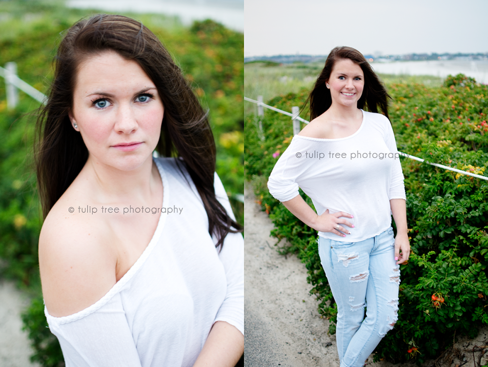 Boston beach senior photography
